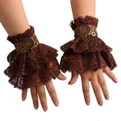 Gants Steampunk, Steampunk Gloves, Moda Steampunk, Steampunk Accessoires, Style Steampunk, Steampunk Gears, Steampunk Clothing, Punk Outfits, Gothic Outfits