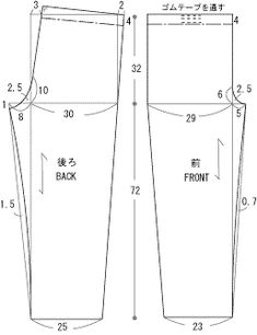 囲み製図 drafting pants