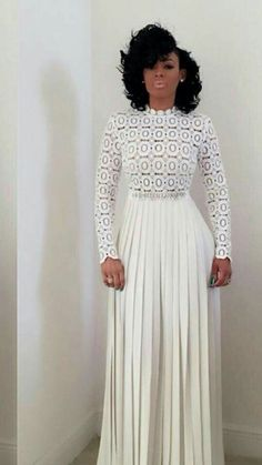 Wedding elegant classy skirts for 2019 African Women, African Fashion, African Style, Modest Fashion, Fashion Dresses, Fashion Jumpsuits, All White Party, White Outfit Party, Look Fashion