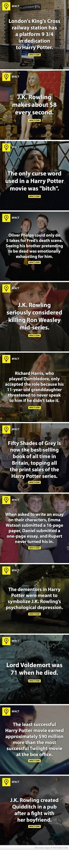 Some more Harry Potter Facts