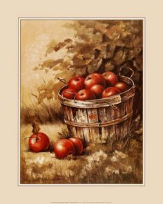 Apple Art and Apple Prints for Sale at FulcrumGallery Framed Art Prints, Fine Art Prints, Apple Barrel, Apple Prints, Apple Art, Fruit Art, Prints For Sale, Watercolor, Artwork