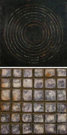 George Peterson and Graceann Warn | Collaboration 1 | encaustic, oil on carved wood panel /sm