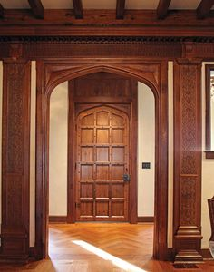 Hull Historical Millwork designs and installs woodwork at the Stan Hywet house, one of the largest and most elaborate examples of Tudor Revival architecture in America. English Tudor Homes, English House, English Cottages, English Style, Tudor Cottage, Tudor House, Gothic House, Cottage Homes, Tudor Black Bay