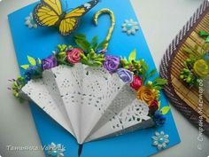 Easy Valentines Crafts for Kids to Make - Paper Flower Bouquet Paper Doily Crafts, Doilies Crafts, Paper Doilies, Flower Crafts, Paper Craft, Valentine Crafts For Kids, Mothers Day Crafts, Easter Crafts, Umbrella Cards