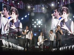 One Direction performs to an estimated crowd of 50,000 at LP Field on Tuesday, August 19, in Nashville, Tenn.