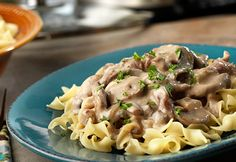 Beef bottom round steak slow cooks to tenderness in a creamy mushroom sauce that the whole family will love!