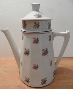 French vintage Limoges caffetiere by FrenchStuff on Etsy