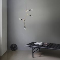 FRANKLIN - Suspension Laiton 4 lumières Ø56cm Menu
