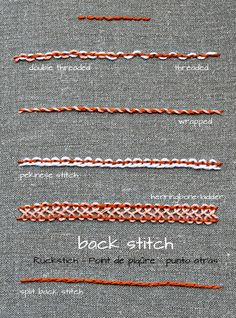 back stitch variations