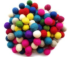 Feltfriend 100 Pieces 100 Wool Felt Balls Diameter 20 mm 078 inch Assorted Colors *** Visit the image link more details. (This is an affiliate link) Fall Crafts For Kids, Crafts To Make And Sell, Create And Craft, Kids Craft Supplies, Arts And Crafts Supplies, Upcycled Crafts, Sewing Crafts, Balloon Crafts, Needle Felting Tutorials