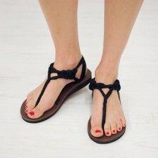 Sseko Black Chiffon Front Sandals