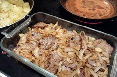 Nyt herkutellaan merimiespihvillä - kokeile helppoa reseptiä! Potato Salad, Cauliflower, Good Food, Food And Drink, Easy Meals, Chicken, Meat, Vegetables, Cooking