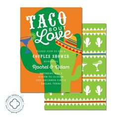 taco bout love invitation wedding party engagement party couples shower