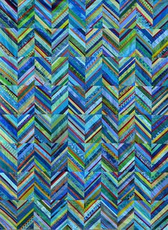 Maryandpatch, Zigzag String Quilt Pattern, Instructions on Etsy Batik Quilts, Jellyroll Quilts, Blue Quilts, Scrappy Quilts, Easy Quilts, Patchwork Quilting, Denim Quilts, Textiles, Strip Quilt Patterns