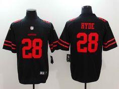 $23 Men's San Fransico 49ers #28 Carlos Hyde Black Vapor Untouchable Player Nike Limited Stitched Jersey