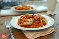 Three-Cheese Chicken Penne Pasta Bake Recipe on Yummly