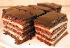 Zsuzsi szelet Hungarian Recipes, Hungarian Food, Tiramisu, Dessert Recipes, Cookies, Baking, Cake, Ethnic Recipes, Diet