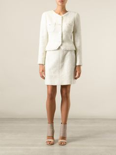 Chanel Vintage Jacket And Skirt Tweed Suit - A.n.g.e.l.o Vintage - Farfetch.com