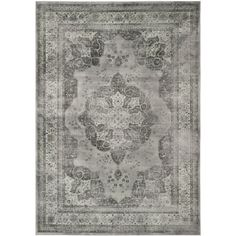 Safavieh Vintage Grey Viscose Rug (5'3 x 7'6) | Overstock.com Shopping - The Best Deals on 5x8 - 6x9 Rugs