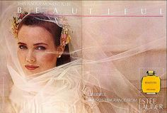 1985 Estee Lauder Beautiful fragrance ad with Willow Bay Elizabeth Taylor Passion, Bruce Boxleitner, Estee Lauder Beautiful, Perfume Ad, Valley Girls, Perfume Collection, New Fragrances, Vintage Beauty, Vintage Ads