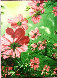 Le Printemps - Huile sur toile Taille : 40,00 cm x 30,00 cm http://didiervidal34.wix.com/matome