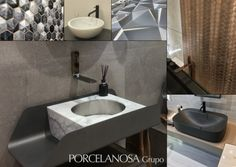 Brand New Tile & Bathroom Trends from Porcelanosa Bathroom Trends, Bathroom Designs, Latest Design Trends, Little Designs, Amazing Bathrooms, Sink, House Design, Decor Ideas, Home Decor