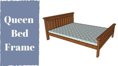 This step by step diy article is about queen size bed plans. If you want to build your own bed frame and get away with a low bill, make sure you check out my latest design. Bed Frame Plans, Diy Bed Frame, Bed Plans, Bed Frames, Farmhouse Style Bedding, Farmhouse Bed, Outdoor Furniture Plans, 2x4 Furniture, White Wooden Bed