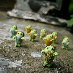 Crocheted zombies