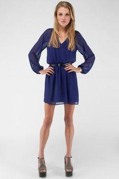Purple Honey Punch Long Sleeve Dress