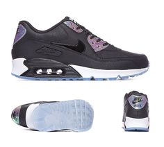 Nike Air Max 90 Premium Trainers Black Platinum S92259