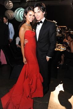 Ian Somerhalder and Nina Dobrev at the Emmys