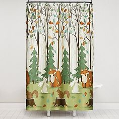 The Saturday Knight 13-Piece Fall Friends Shower Curtain and Hook Set creates a colorful and joyous backdrop for your fall themed  bathroom décor. Constructed from 100% polyester, this fun holiday curtain is machine washable and easy to care for.