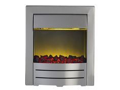 Adam Colorado Electric Fire in Brushed Steel | Fireplace World