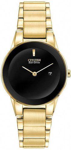 Citizen Eco-Drive Axiom Womens Gold-Tone Watch GA1052-55E 22823fd4b21