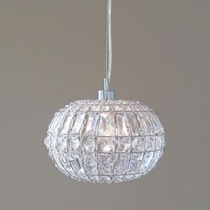 Lily pendant light chic round crystal ball hanging lamp mozeypictures Gallery