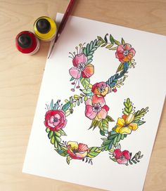 alisaburke: lettering with makewells: the art of the ampersand
