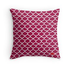 Fish scales burgundy cushion. Also available on bags, iphone cases, mugs and more!