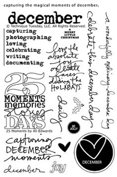 25 Moments stamps for Technique Tuesday by Ali Edwards