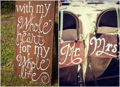 Outdoor Country Wedding from rusticweddingchic.com