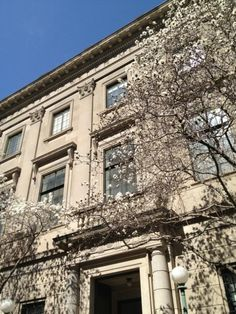 Photo of the Welch Medical Library taken yesterday. Spring has sprung in Baltimore.