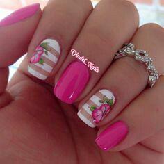 Barbie pink w/ roses