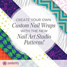 Did yo know that you can design your own Jamberry nail wrap?  From children's artwork to your favorite pattern and color. Check out the nail art studio and let the designer in you play! http://christinevelazquez.jamberrynails.net/