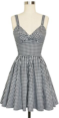 Trashy Diva Hottie Mini Dress | Vintage Inspired Dress | Black Gingham