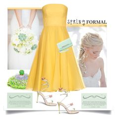 """""""Spring Formal'"""" by dianefantasy ❤ liked on Polyvore featuring Alexander McQueen, René Caovilla, Charlotte Russe, polyvoreeditorial and springformal"""