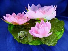 "X Large Polysilk Water Lily Pad plant, 7"" Floating pond/pool spa water garden, Frog Or Turtle. https://www.ebluejay.com/ads/item/4701226"
