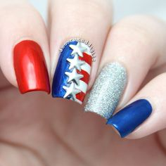 Memorial Day/4th of July nails by decorateddigits #merica