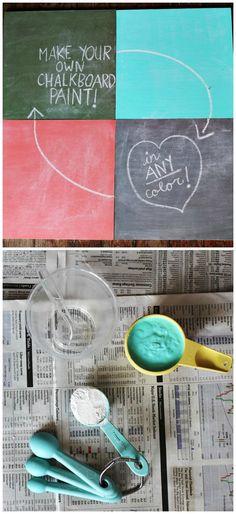 sådan kan man lave tavlemaling i farver