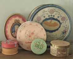 Vintage Powder Boxes.