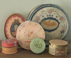 Vintage Powder Boxes.
