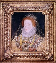 One of the many lesser-known portraits of Queen Elizabeth I; this one of the Queen in a frame is dated from around 1589.